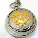Scottish Thistle Pocket Watch, PERSONALISED ref PWSCOT